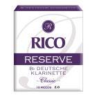 Rico Reserve Bb Clarinet Reeds - 10 Pack
