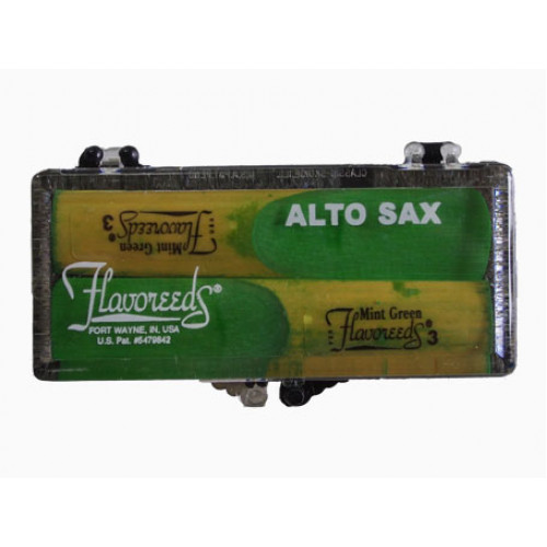 Mint Green Flavoured Alto Saxophone Reed - Twin Pack